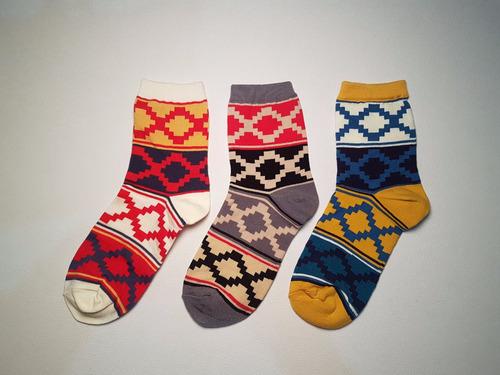 calcetines de colores patron xx (3 pares)