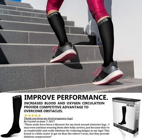 calcetines de compresión sb sox 20-30mmhg para hombres y muj