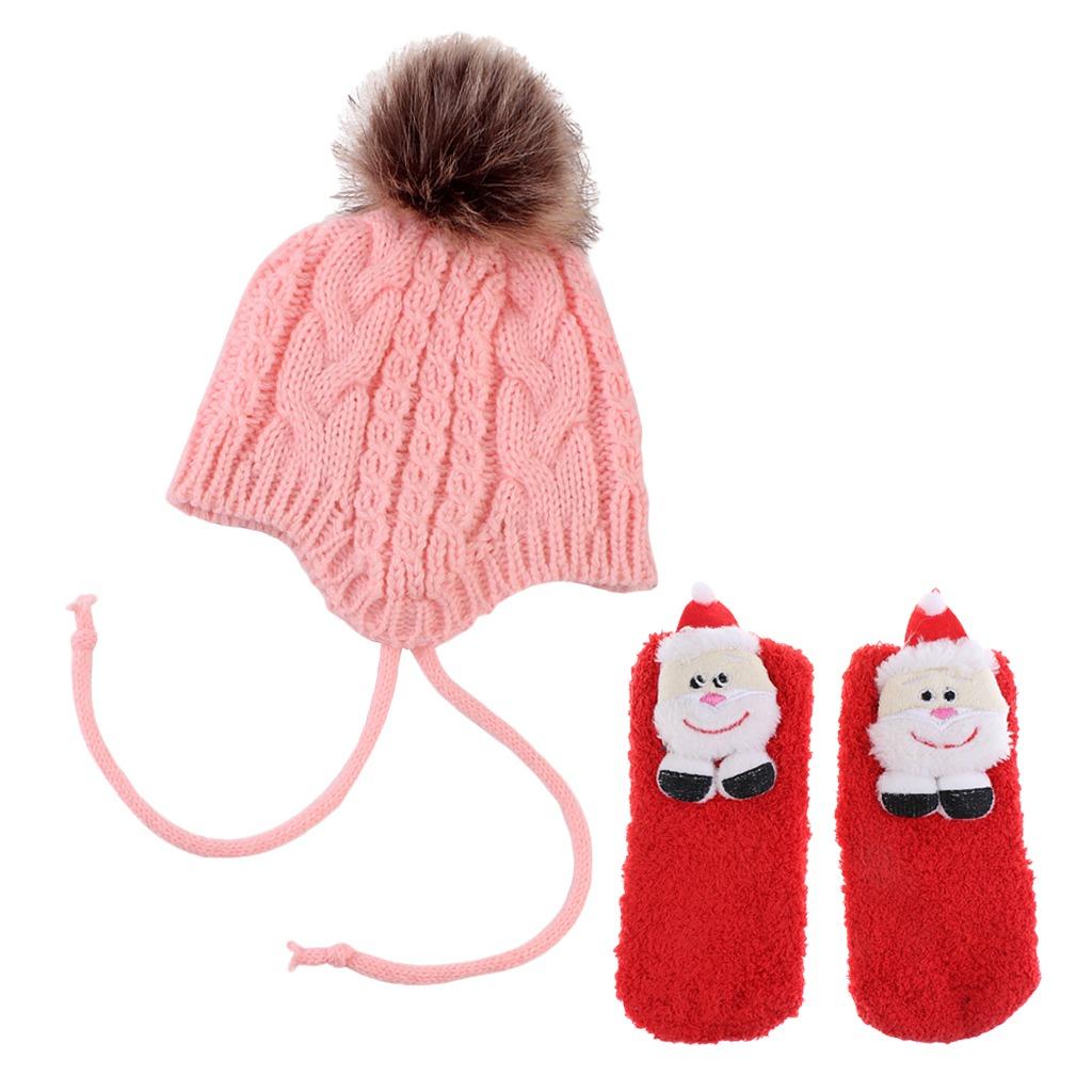 Calcetines De Navidad Para Niños Accesorios Gorro De Invier ...