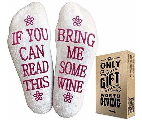 calcetines de vino con embalaje de regalo: si usted puede le