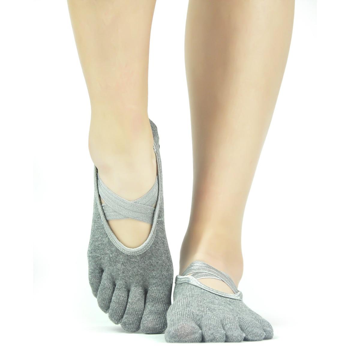 Calcetines De Yoga 5 Dedos De Los Pies Elutong 3 Paquetes - S/ 226 ...