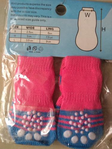 calcetines medias antideslizante para perro talla m