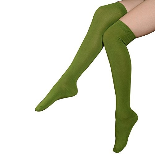 calcetines meikan altos para mujer 3 unidades de algodón pa