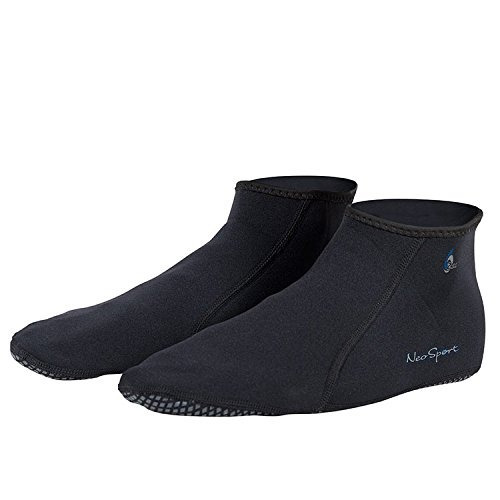 calcetines neoprene snorkel low-top neosport de 2 mm, negro