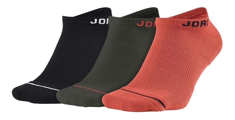 fábrica auténtica venta más caliente a juego en color Calcetines Nike Jordan Dri-fit No Show Negro Gris Rojo Mult