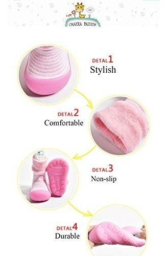 calcetines para bebe con aspecto de zapato antideslizante su