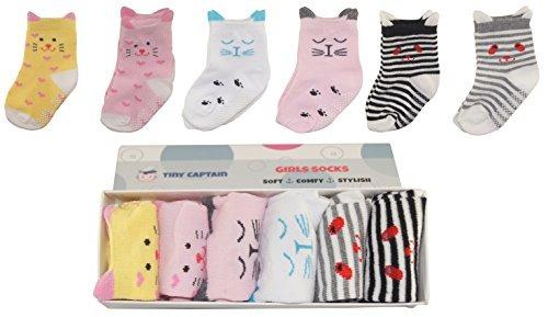 calcetines para bebés para niñas pequeñas con agarres ant