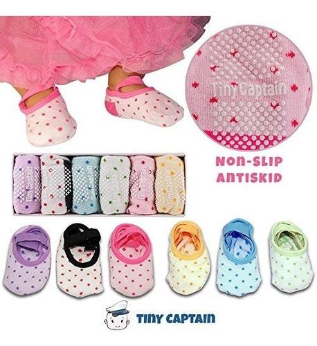 calcetines para niñas pequeñas con antideslizante, 1-3 años