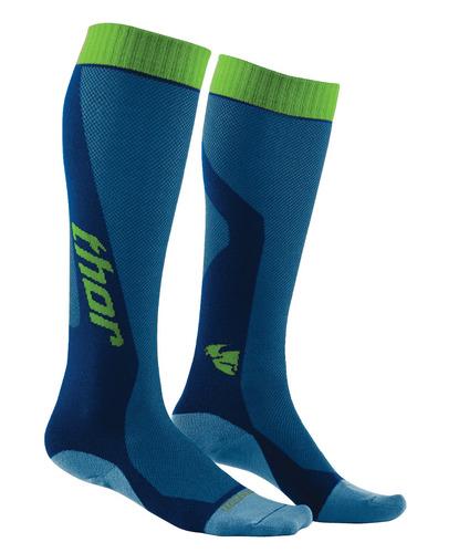 calcetines thor mx cool max hombre azul/verde 6-9