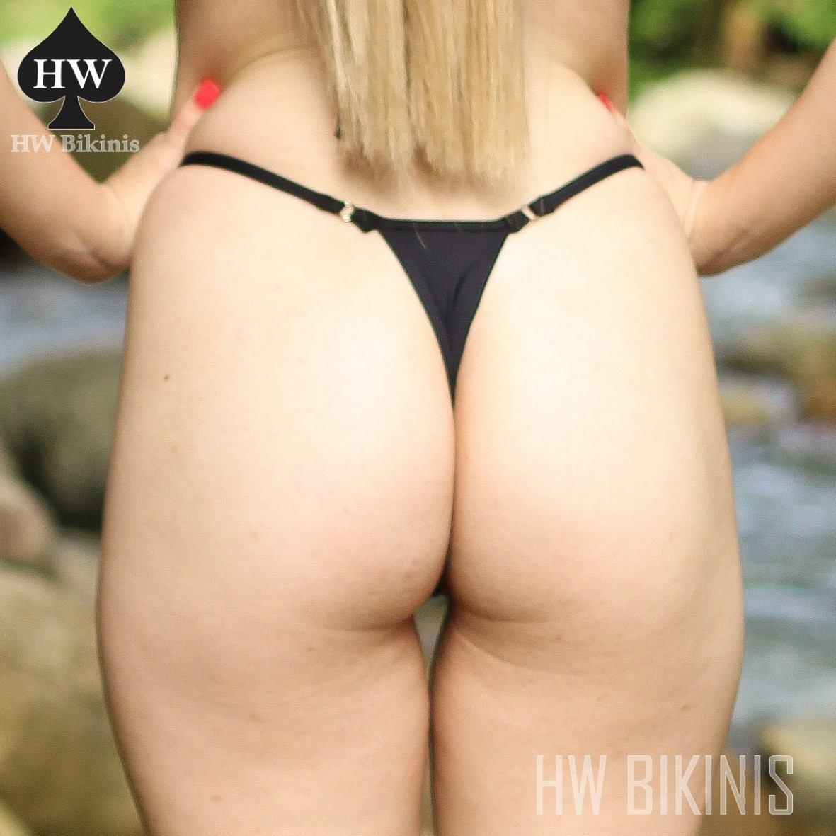 a72540561447 Calcinha Avulsa Fio Dental Mini Bikini Preta Ffl01 Lycra® Hw - R$ 32 ...