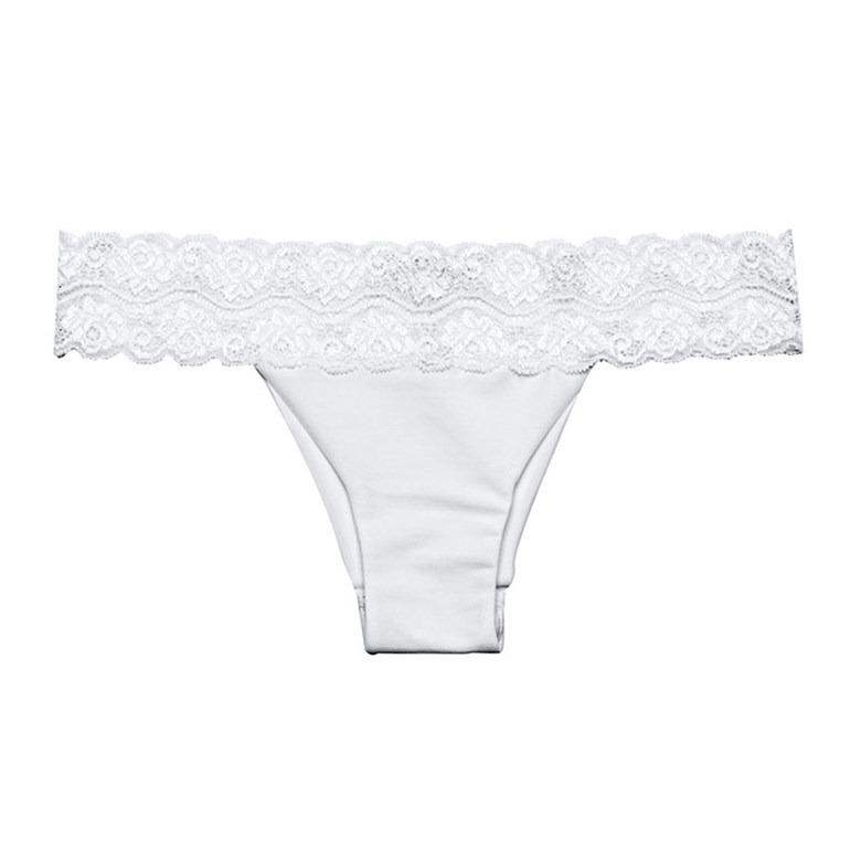 cca35ffcd Calcinha Biquíni Com Renda Na Cintura Nude Glam Hope Li7078 - R  104 ...