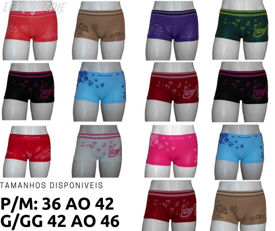 e3514e285 calcinha box boxer shortinho cueca feminina kit com 10 unid. Carregando  zoom.