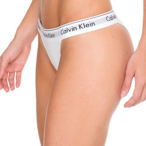 calcinha calvin klein underwear monograma tanga f3898p
