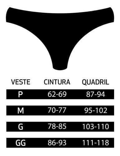 calcinha conforto, em microfibra, kit com 10 unidades