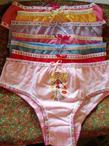 calcinha de malha infantil - roupas de criança - atacado