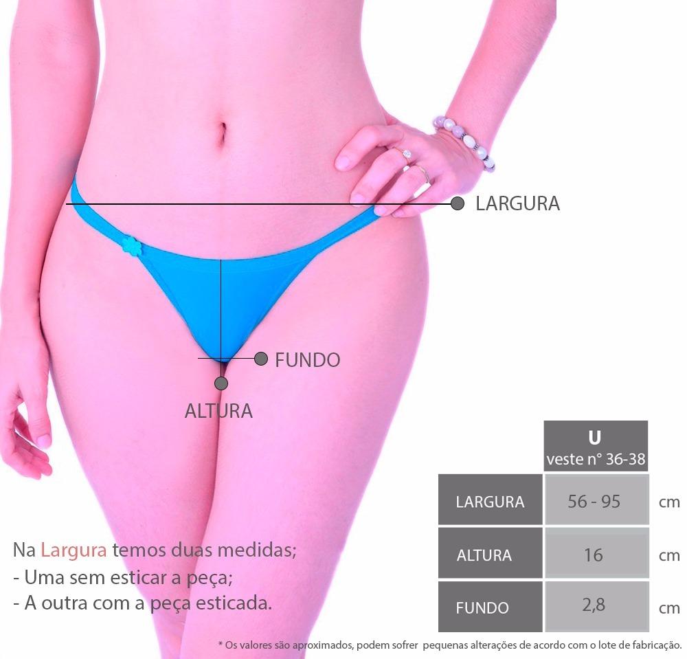 b19743472 10 Calcinha String Fio Dental Em Microfibra Lingerie - R$ 23,09 em ...