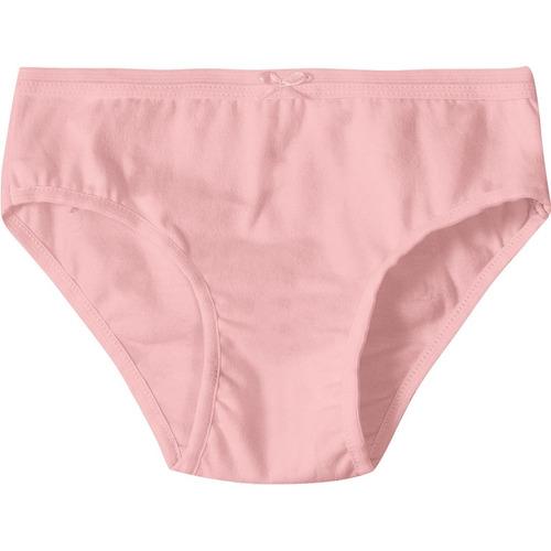 calcinha marisol kit com 3 peças menina rosa - cor rosa