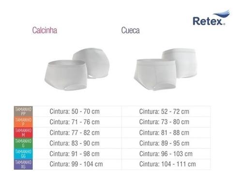 calcinha p/ incontinência urinária retex - g
