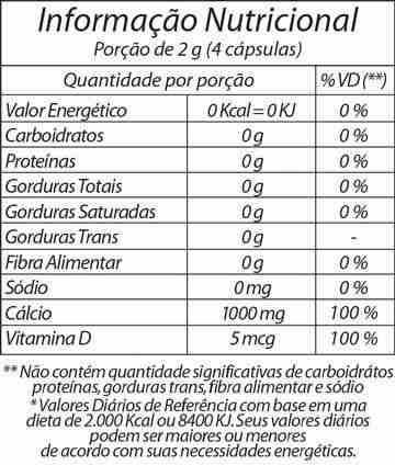 cálcio 600 com vitamina d3 - 60 cápsulas - fitoway