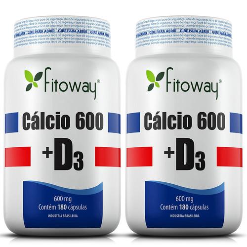cálcio 600 + d3 fitoway 360 cáps - oferta