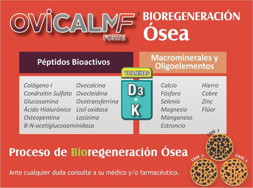 calcio biológico + vit d3 + vit k - ovicalm forte