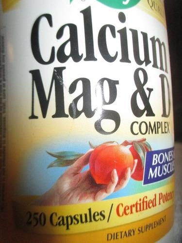 calcio con magnesio y vitamina d complex marca nature's way