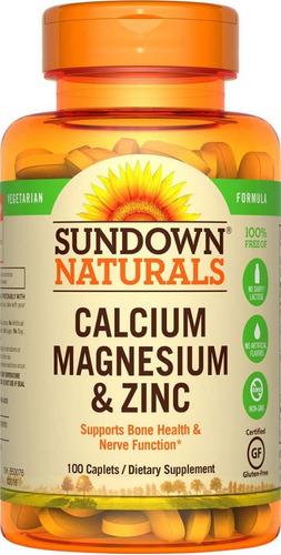 calcio magnesio zinc sundown naturals 100tab 7v (ccs y val)
