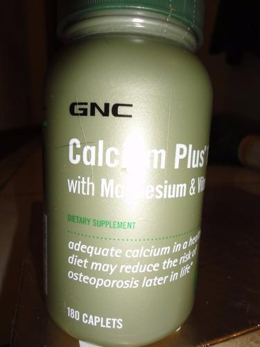 calcium plus de 1000 con magnesium y vitamina d3 marca gnc