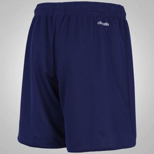 Calção adidas Parma 16 - Infantil - Cor Azul Esc branco - R  44 013497a154868