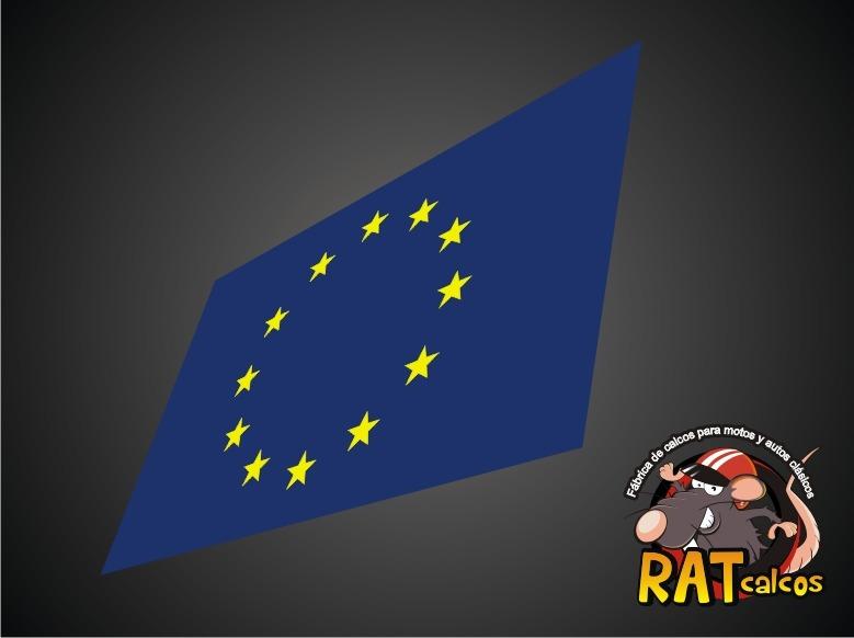 Calco Bandera Union Europea Autos Europeos 180 00 En Mercado Libre