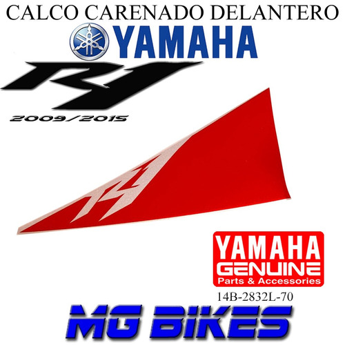 calco carenado del yamaha r1 2009 2015 original mg bikes