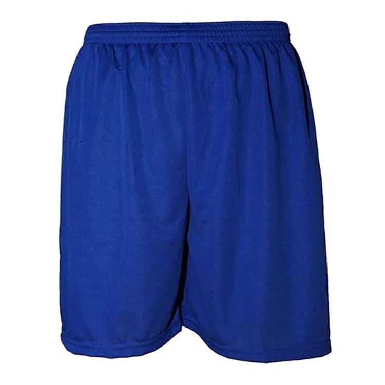 557d0ae0e4 Calção De Futebol Liso Poliéster Nata Sports - Azul - R  24