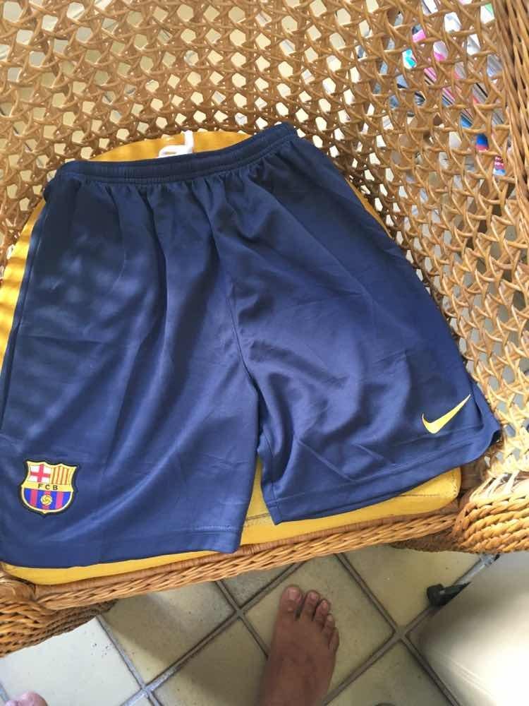 3a4660bc91b15 Calção Do Barcelona -14 Anos Original Nike Novo!! - R  44
