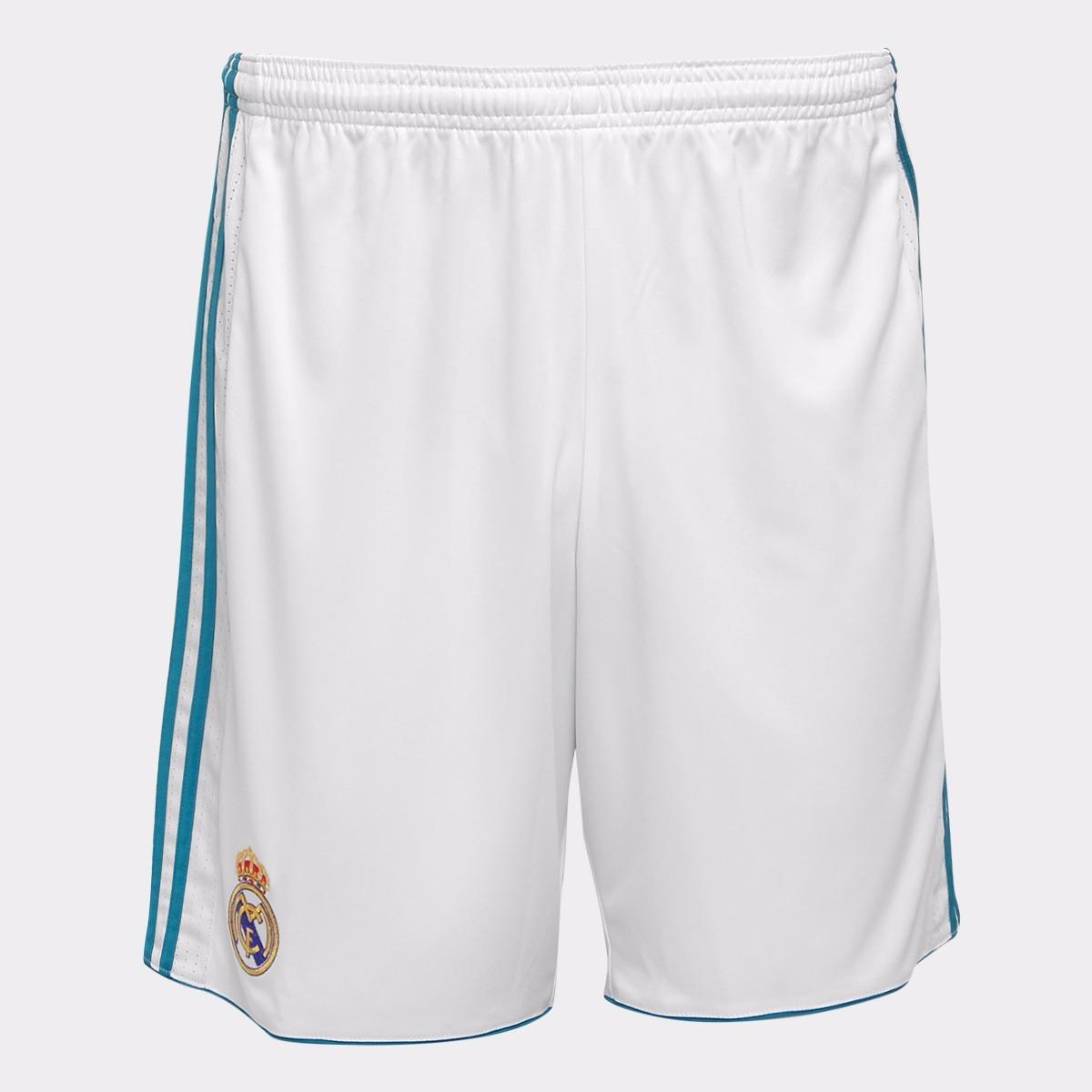 calção do real madrid cinza rosa jogador shorts adidas branc. Carregando  zoom. 97af0341ee1b9