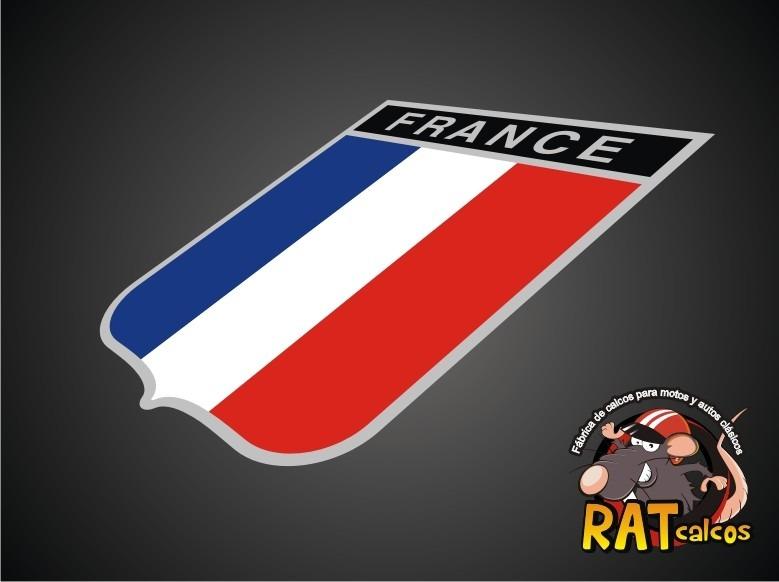 Calco Escudo Francia Autos Europeos 180 00 En Mercado Libre