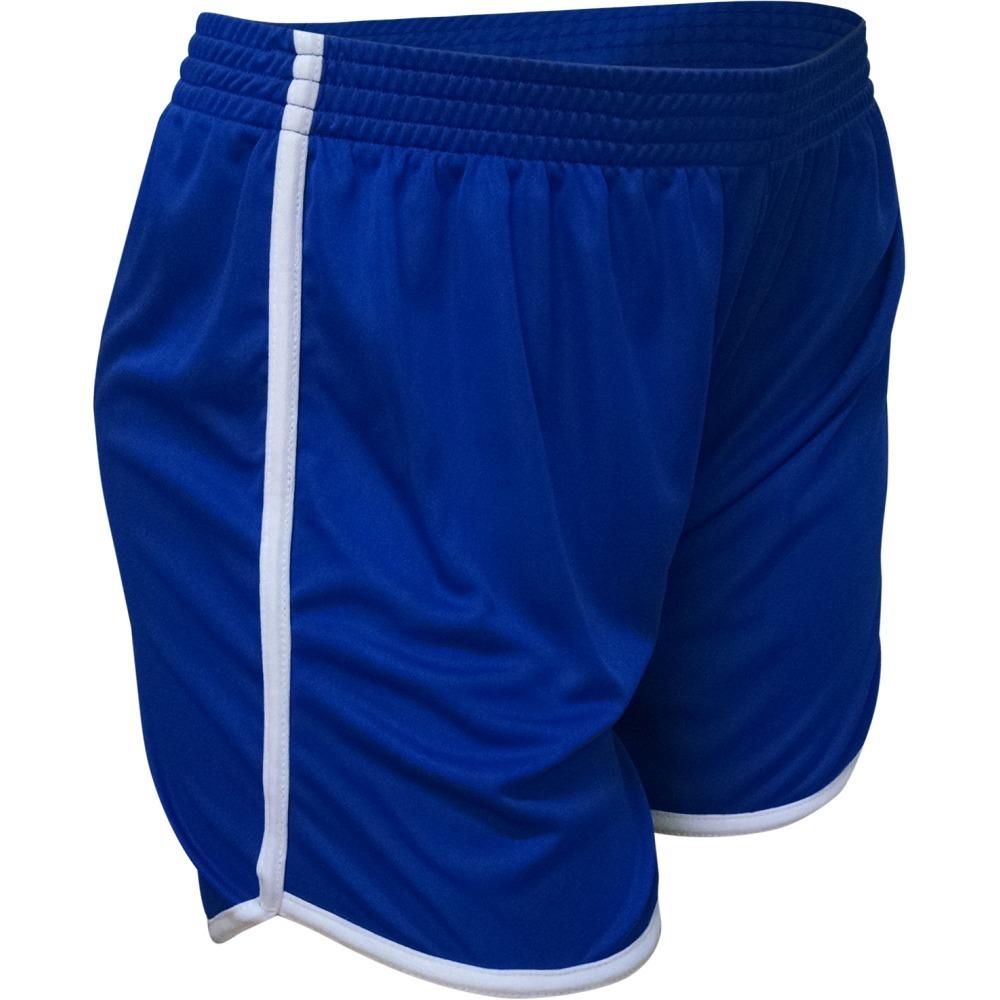 123dbb2cc7 Calção Feminino Futebol - Azul branco Ou Preto rosa - R  34