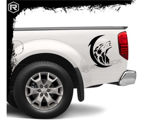 Calco Lobo Aullando Luna Ploteo Tatoo Car Tuning Sticker