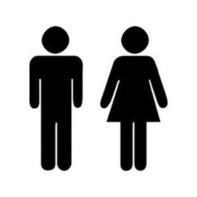 18e8a5586d31 Calco Logo Baño Hombre Mujer Pack X 2 Unidades