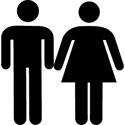 29594fbb3764 Calco Logo Baño Hombre/mujer Pack X2 Unidades