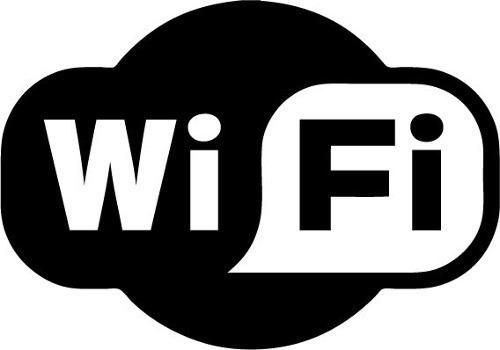 calco logo wifi autoadhesivo pack x 2 unidades 16x12 cm