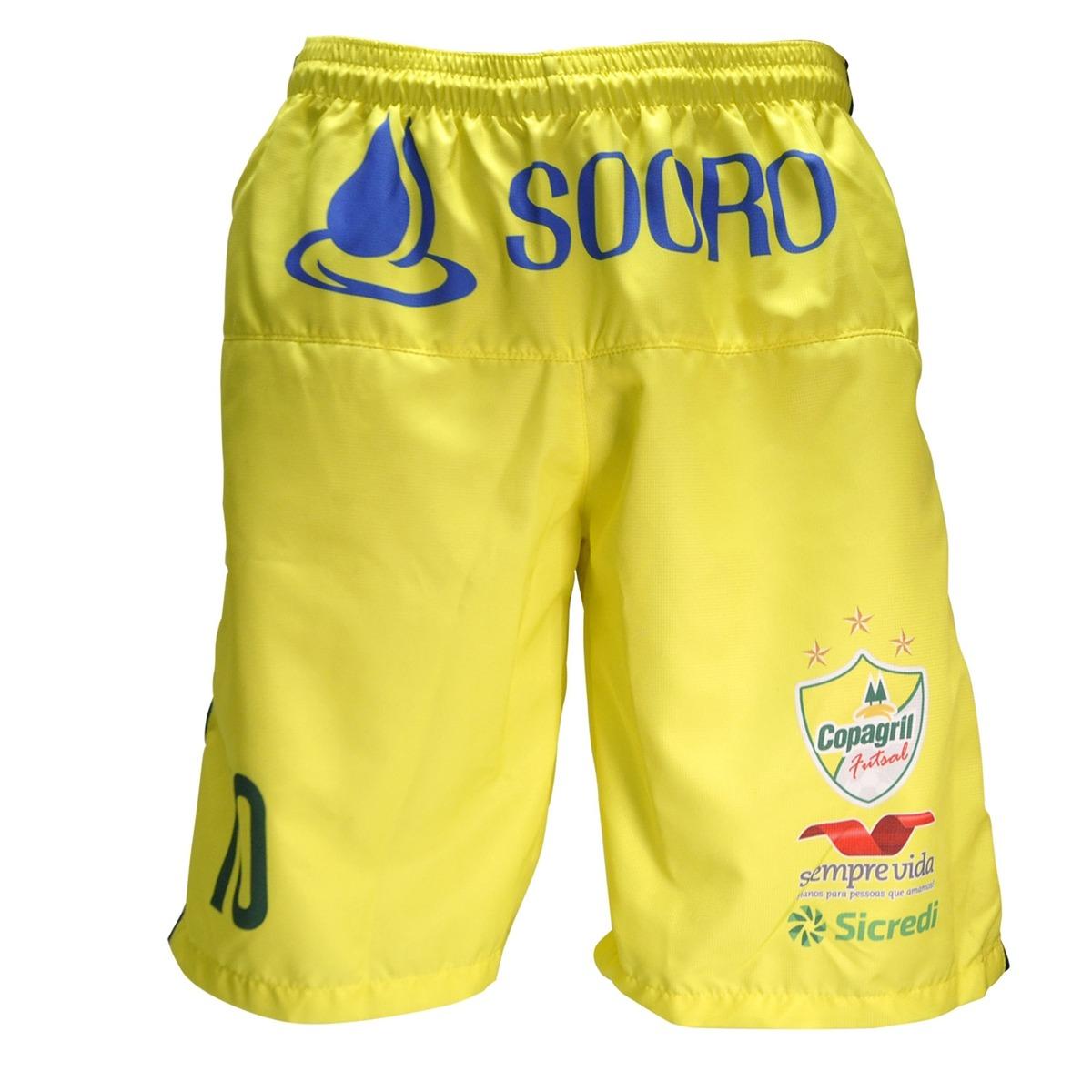 calção oficial copagril futsal 2018 amarelo. Carregando zoom. bb57574ac1f2a