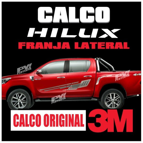calco originales toyota hilux 2016/17 calcomania por lateral