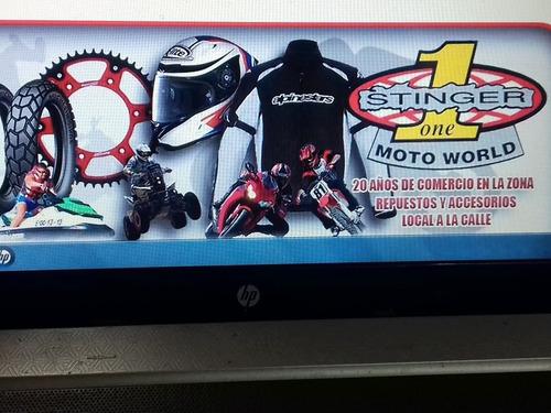 calco para motos y autos tipo ploter 60x 29 cm stinger motos