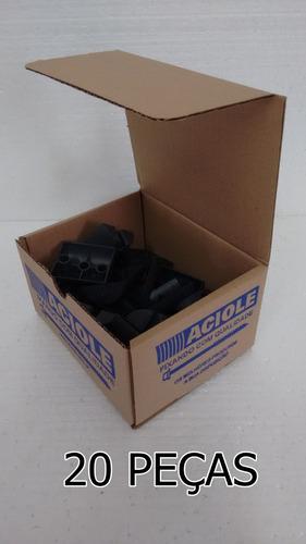 calço plástico ondulado pequeno preto - embal 20 pçs