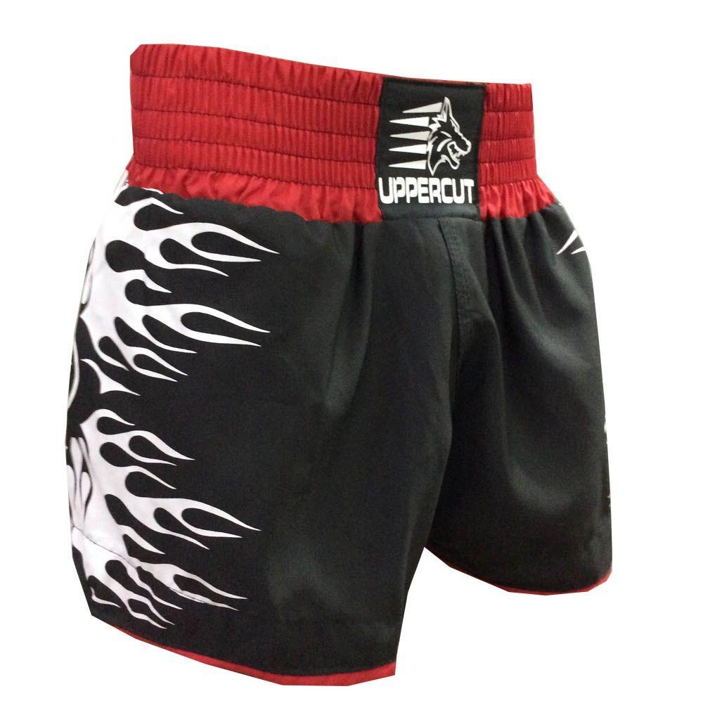 757af3321 calção short muay thai kickboxing explosion - preto verm. Carregando zoom.