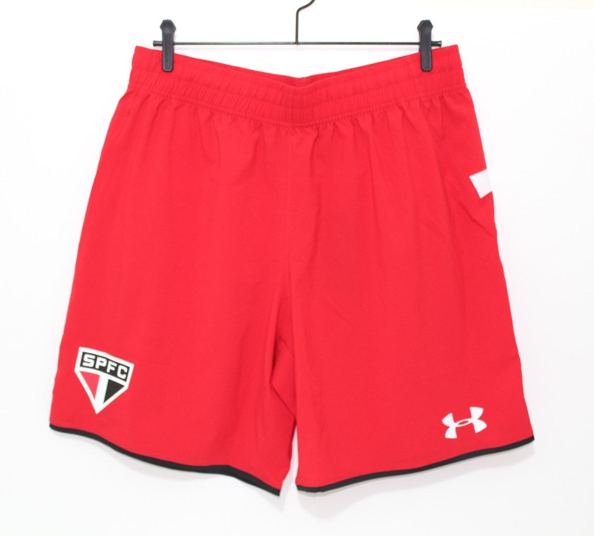 07f36410b calção shorts original são paulo 2015 2016 treino vermelho. Carregando zoom.