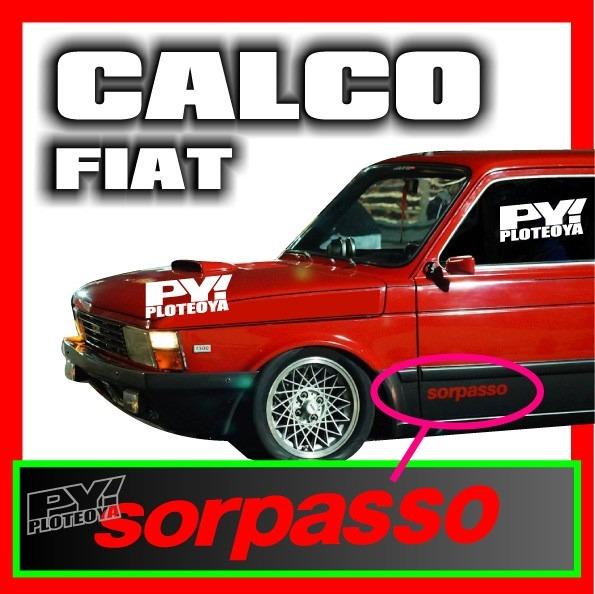 Calco Sorpasso Fiat 147 Iava Calcomania Precio Por Par 490