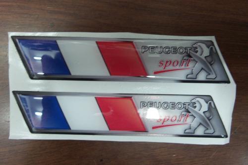 calcomania de francia peugeot banderita resinada 206,207,307