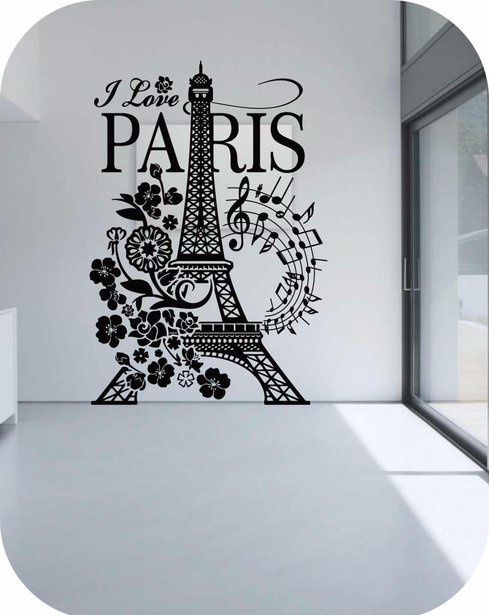 Calcomania decorativas para paredes torre eiffel stickers - Stickers decorativos ...