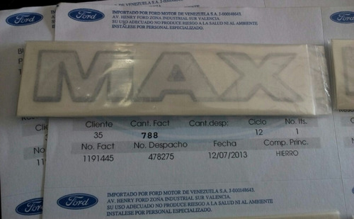 calcomania emblema fiesta power max original